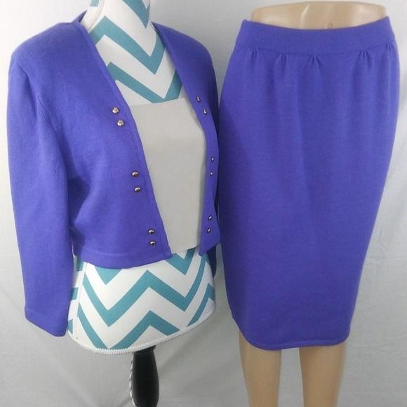 91e4e35fd30e St John Collection Size 10 Two Piece Santana Suit